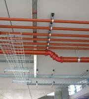 Instalação de rede de combate a incêndio